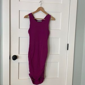 Athleta ruched side dress